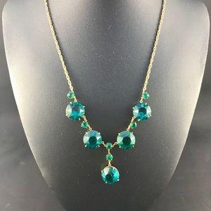 Vintage green rhinestone necklace